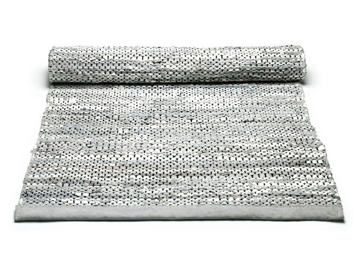Szary dywan ze skóry Light Grey 60x90cm