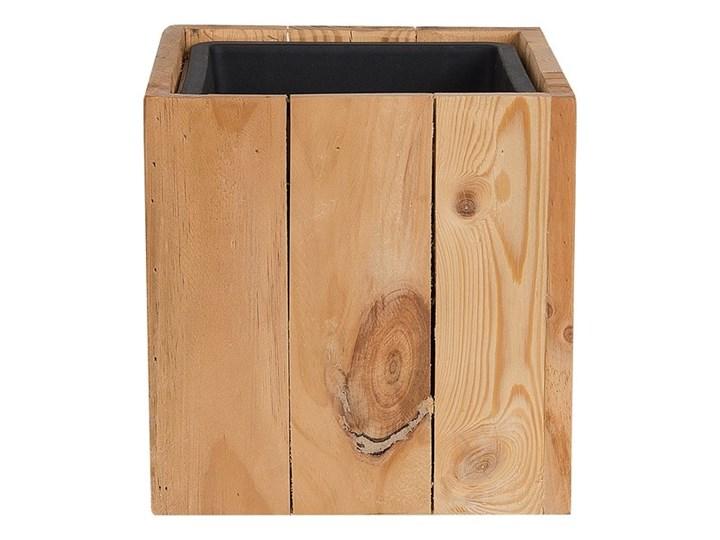 Doniczka z wkładem drewniana sosnowa 28 x 28 x 28 cm kwadratowa dekoracyjna do domu i na taras