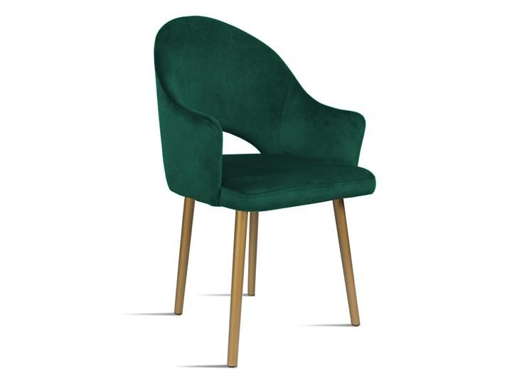 Krzesło BARI zielony/ noga złota/ SO260 Bettso