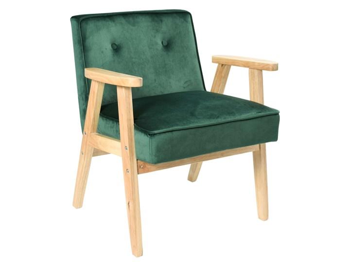Fotel vintage MEMO PLUS VELVET ciemnozielony