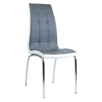 Eleganckie krzesło Corso B szaro-białe