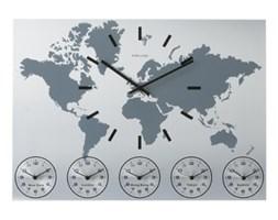 Zegar ścienny World Time alu by Karlsson