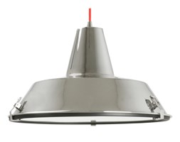 Lampa wisząca Dock chrome w. red cable by Leitmotiv