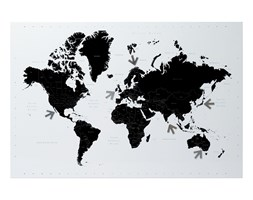 Tablica magnetyczna World Map by pt,
