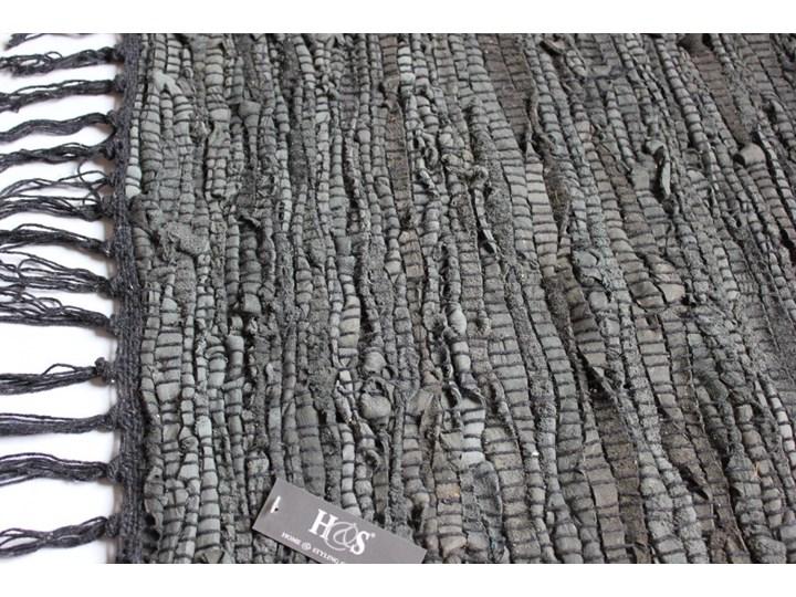 Dywanik Skórzano Bawełniany Ciemny Popiel 60x90 Cm Dywany
