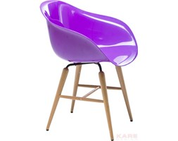 Krzesło Armrest Forum Wood Purple by Kare Design