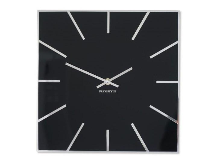 Zegar na ścianę czarny zegar EXACT 30cm
