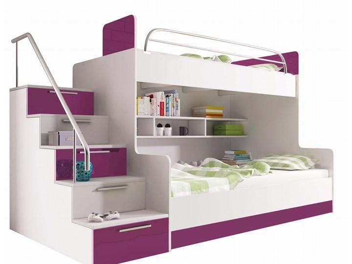 łóżko piętrowe - RAJ 2 BETA - fioletowy połysk