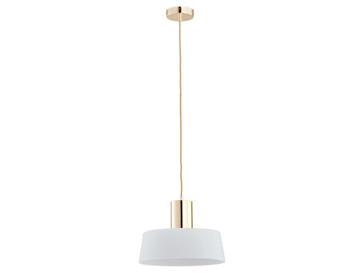 Lampa wisząca zwis LUX złoty/biały śr.30cm Lampa z kloszem Szkło Szkło Szkło Szkło Styl Nowoczesny