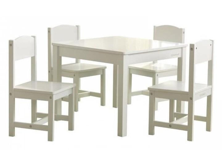 KidKraft Stół w stylu wiejskim z 4 krzesłami, biały
