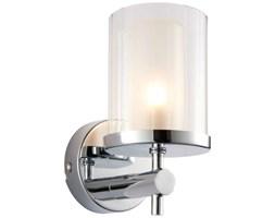 Łazienkowa LAMPA ścienna BRITTON 51885 Endon szklana OPRAWA okrągła tuba kinkiet IP44 chrom przezroczysty