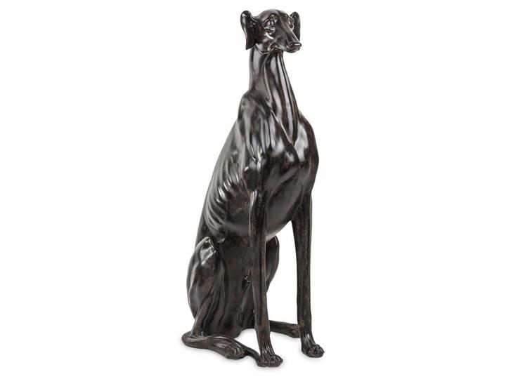 PIES CHART SIEDZĄCY figurka, dekoracja czarna z brązem, wys. 80 cm