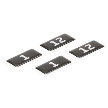 Naklejki z numerami do szafek, 40x20 mm, 1-500, czarno-biały