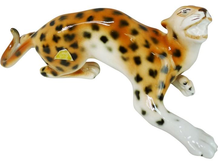 Figurka tygrysa, Royal Dux Bohemia, Czechy, lata 90. Zwierzęta Ceramika Ceramika