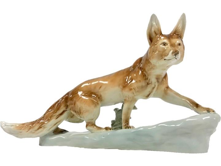 Figurka lisa, Royal Dux Bohemia, Czechy, lata 60. Ceramika Ceramika
