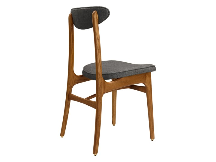 Krzesło 200-190 Loft Grey, proj. R. T. Hałas Kolor Szary Krzesło inspirowane Wysokość 46 cm Szerokość 45 cm Wysokość 83 cm Drewno Głębokość 52 cm Tapicerowane Tkanina Styl Industrialny