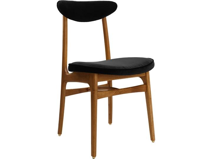 Krzesło 200-190 Velvet Black, proj. R. T. Hałas Tapicerowane Kategoria Krzesła kuchenne Drewno Wysokość 46 cm Krzesło inspirowane Tkanina Szerokość 45 cm Głębokość 52 cm Wysokość 83 cm Kolor Brązowy