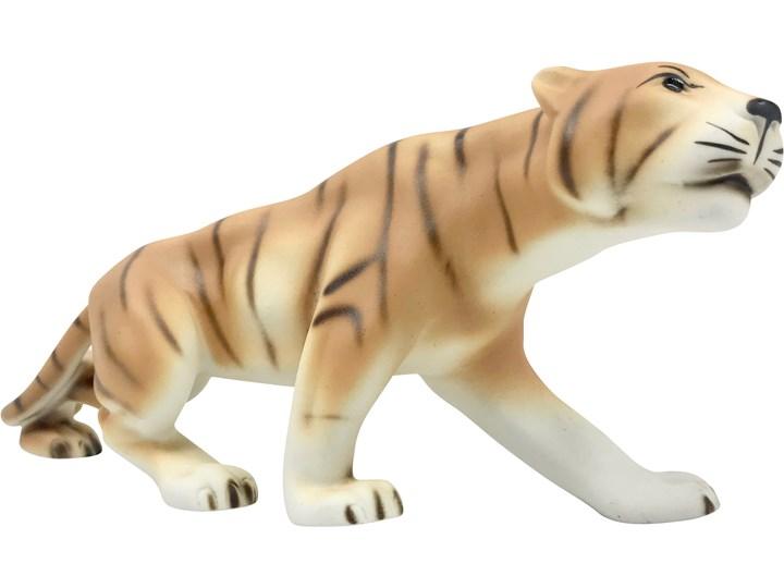 Figurka tygrysa, Royal Dux Bohemia, Czechy, lata 60. Zwierzęta