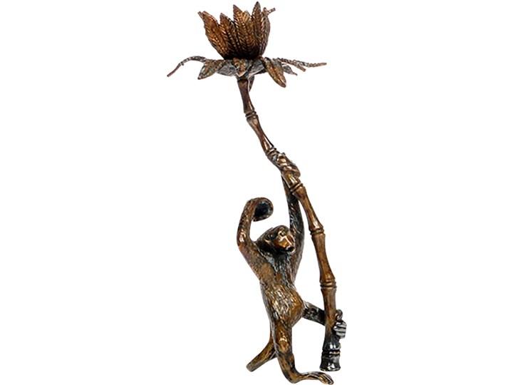 Figura małpki z palmą, pocz. XX w. Metal Zwierzęta Metal