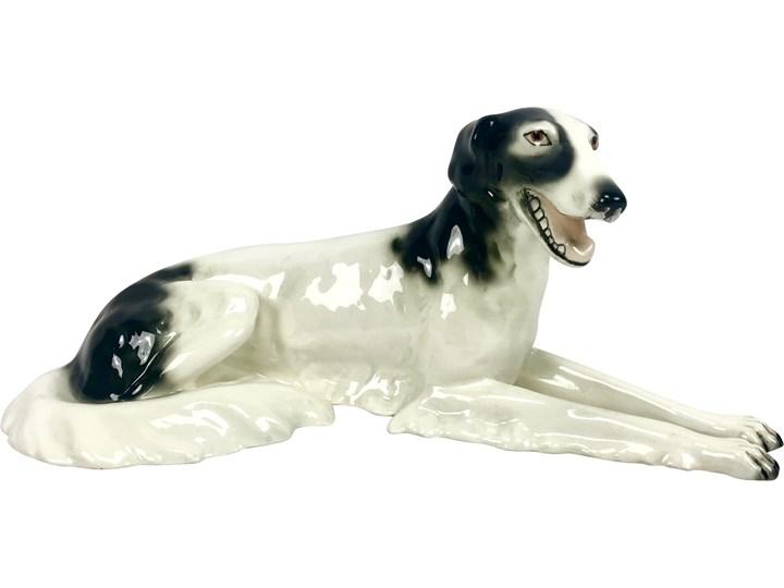 Figurka psa, Royal Dux Bohemia, Czechosłowacja, lata 20. Ceramika Ceramika