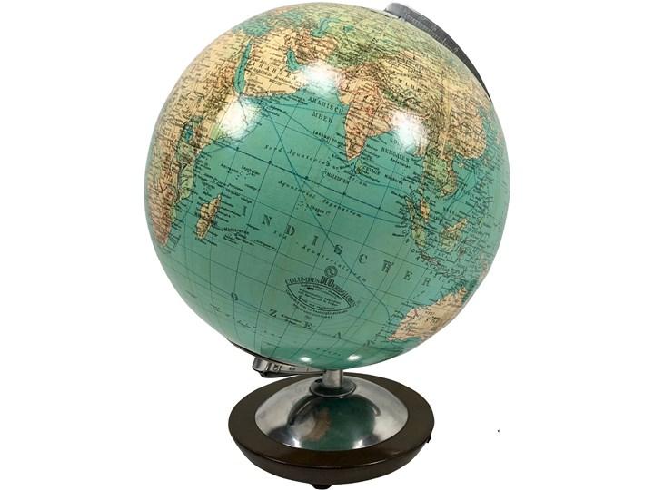 Szklany globus podświetlany Duplex, Columbus Duo, Niemcy, lata 60. Globusy