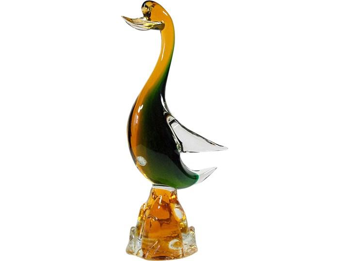 Figurka Kaczka, Murano, Włochy, lata 60. Szkło Ptaki Szkło