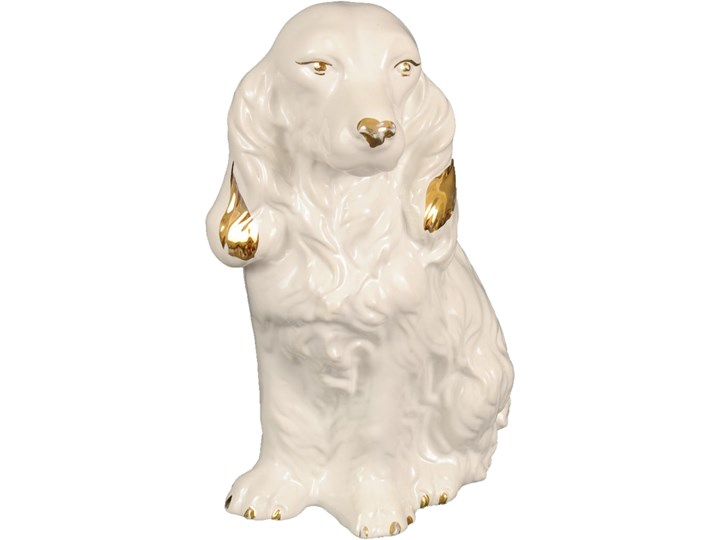 Ceramiczna figurka psa, lata 50. Ceramika Ceramika