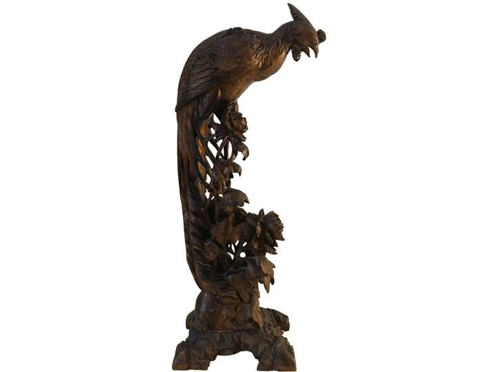 Rzeźba Paw, początek XX w. Drewno Drewno