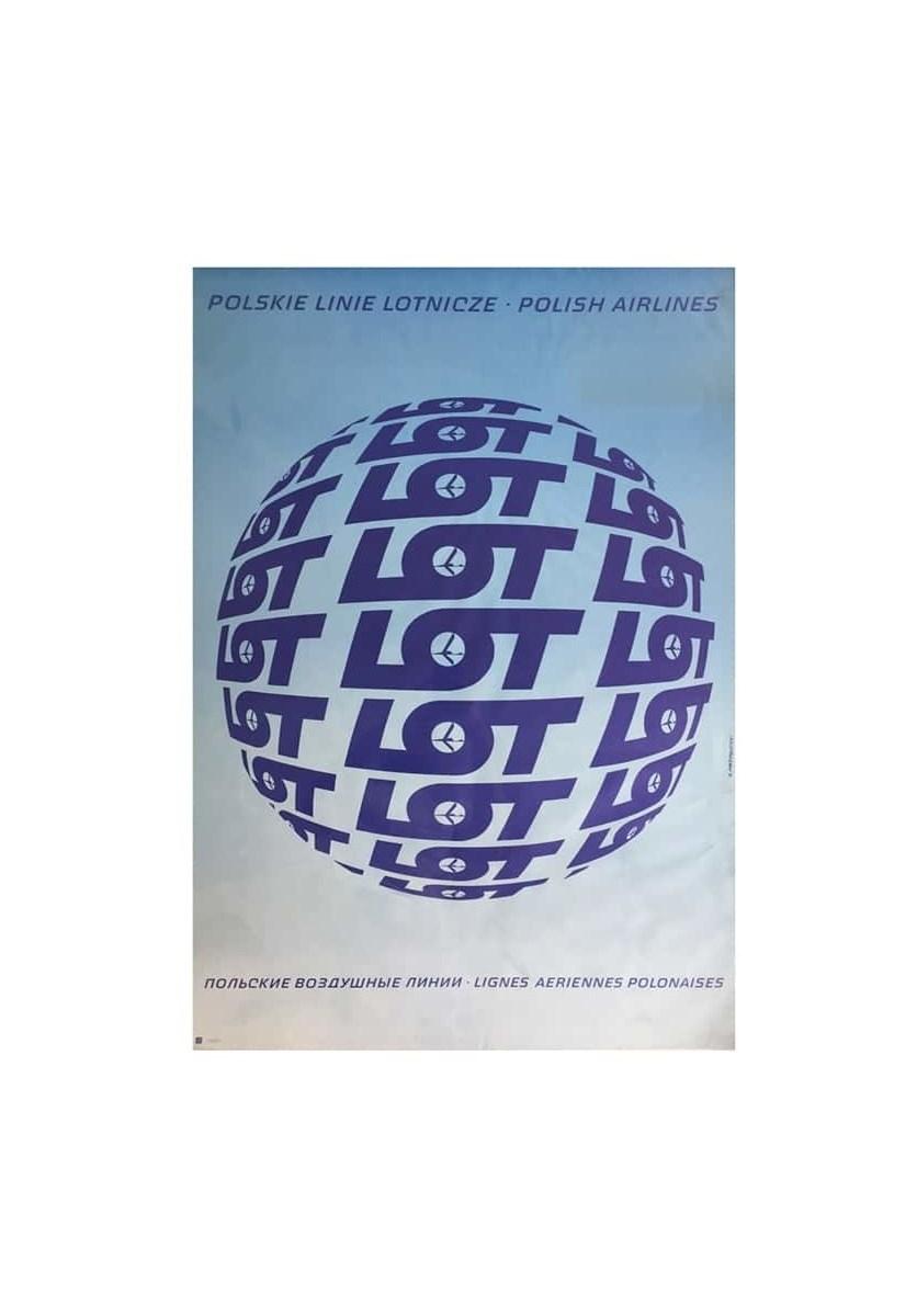 Plakat Reklamowy Pll Lot J Przygodzki Lata 60