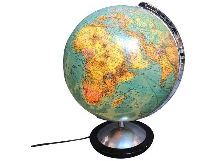 Globus podświetlany Columbus, lata 70. Globusy
