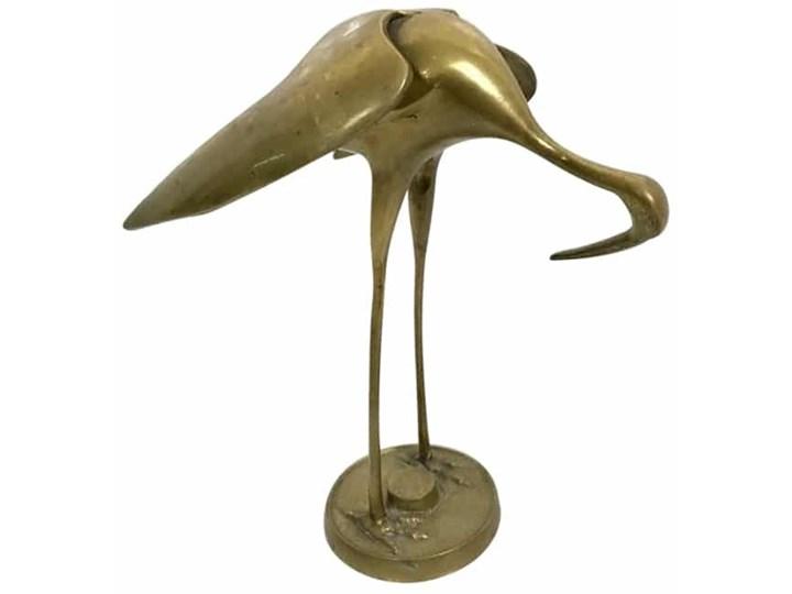 Figurka żuraw, lata 70. Mosiądz Mosiądz