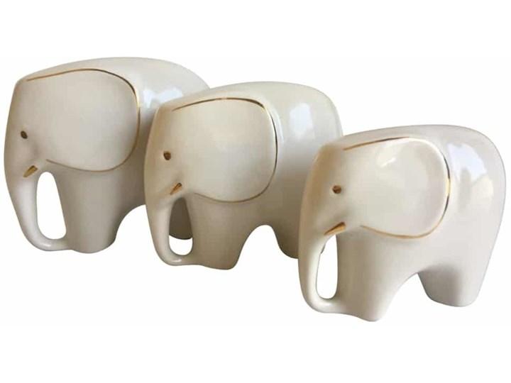 Komplet figurek słoni, lata 60. Ceramika Ceramika