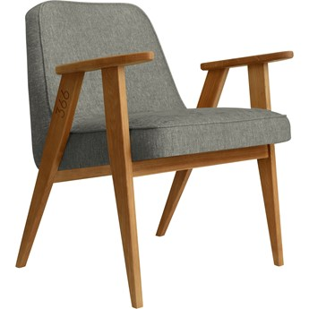 Fotel 366 Loft Grey dąb 03, proj. J. Chierowski