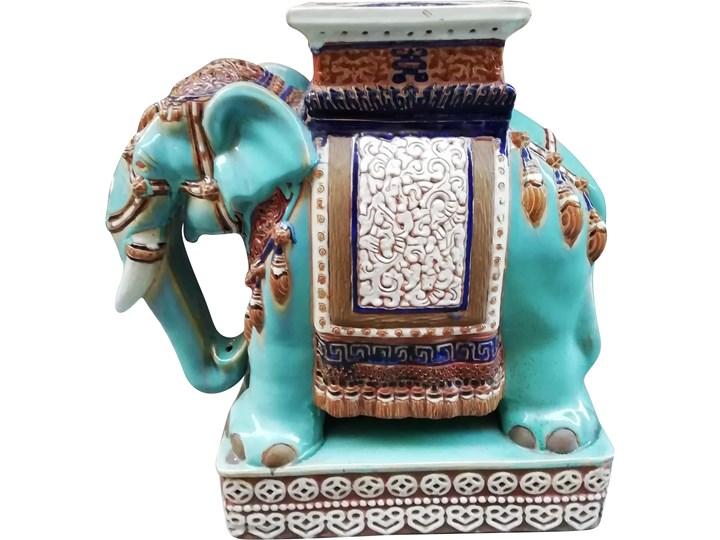 Ceramiczna figurka słonia, lata 80. Ceramika Ceramika