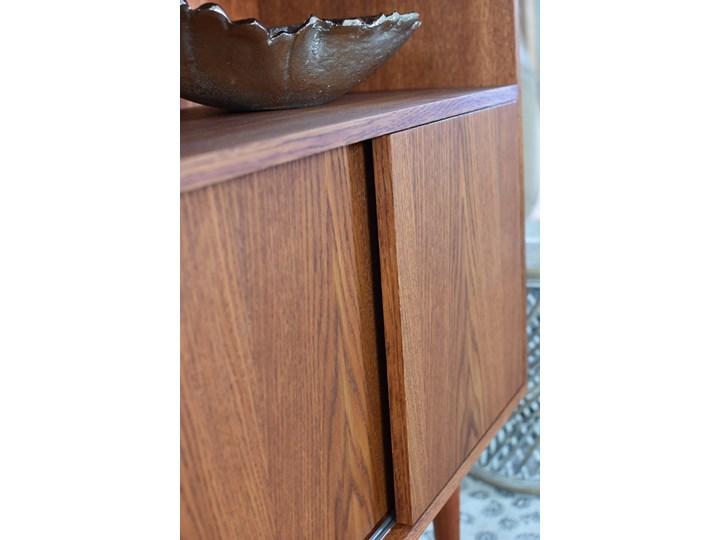 Komoda Highboard 80, Pastform Furniture Wysokość 105 cm Szerokość 100 cm Z szafkami Drewno Głębokość 40 cm Kolor Brązowy