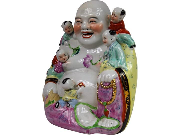 Porcelanowa figura Buddy, Chiny, połowa XX w. Ceramika Ceramika