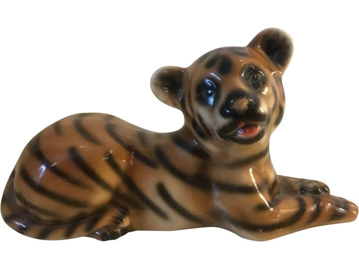 Ceramiczna figurka tygrysa, lata 70. Zwierzęta Ceramika Ceramika