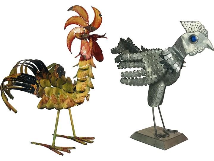Para figurek z metaloplastyki, Portugalia, lata 70. Ptaki
