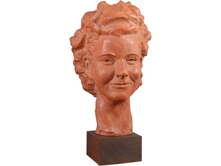 Rzeźba z terakoty, proj. P. Serste, Belgia, lata 60. Drewno Drewno