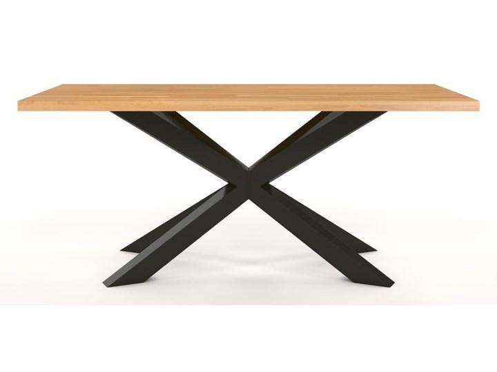 Stół industrialny Spider 80x180. Lity buk (4cm)!