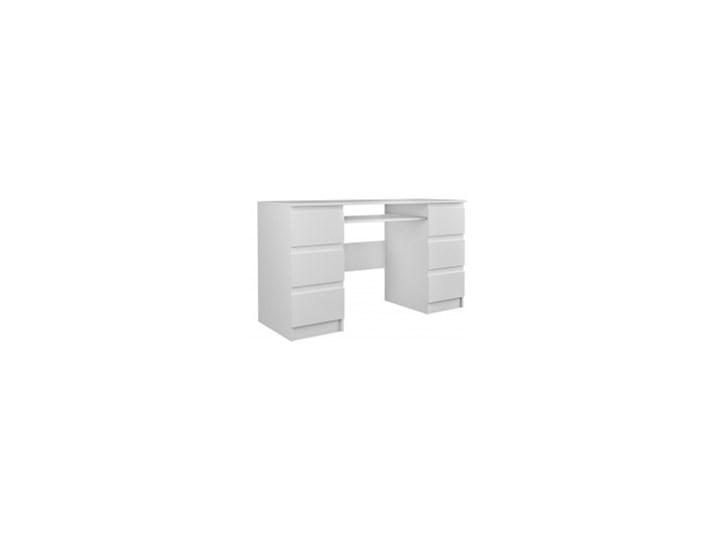Biurko z szufladami Basic 130 cm białe nowoczesne
