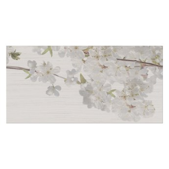 Dekor Pent Cersanit 29,7 x 60 cm light grey flower