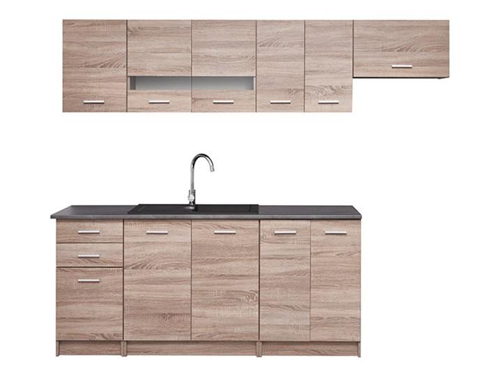 Gotowy zestaw mebli kuchennych Deftrans Laguna 2,4 m Kategoria Zestawy mebli kuchennych Zestawy gotowe Kolor Brązowy