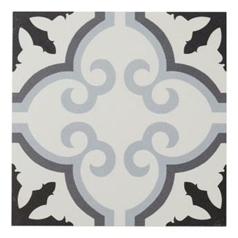 Gres Hydrolic Design 3 Colours 20 x 20 cm b&w flower 1 m2