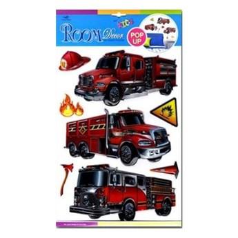Dekoracja ścienna 3D samochody strażackie