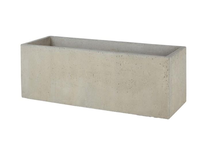 Donica Verve efekt cementu 100 cm szara