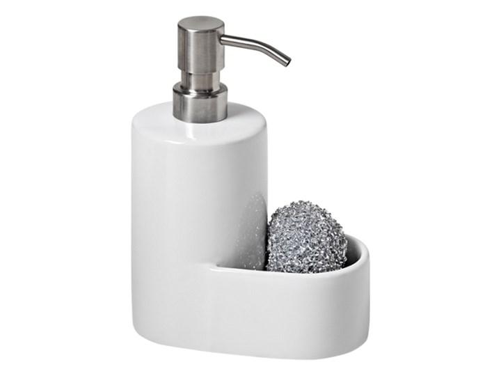 Dozownik płynu z myjką Cooke&Lewis satyna Dozowniki Kategoria Mydelniczki i dozowniki Ceramika Stal Kolor Biały