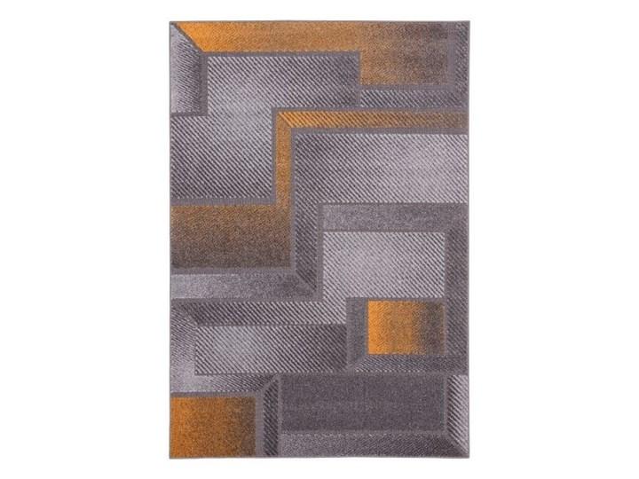 Dywan Meteo Patts 160 x 230 cm złoty Syntetyk Prostokątny 160x230 cm Kolor Szary Dywany Wzór Geometryczny