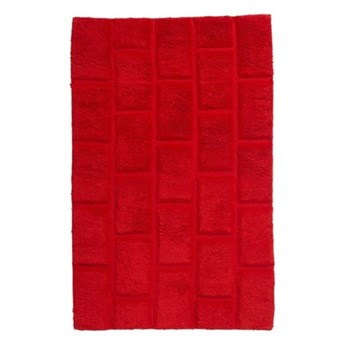 Dywanik łazienkowy Managua 60 x 90 cm czerwony