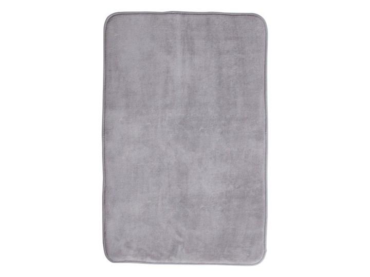 Dywanik łazienkowy Paira 50 x 80 cm srebrny 50x80 cm Poliester Prostokątny Kategoria Dywaniki łazienkowe